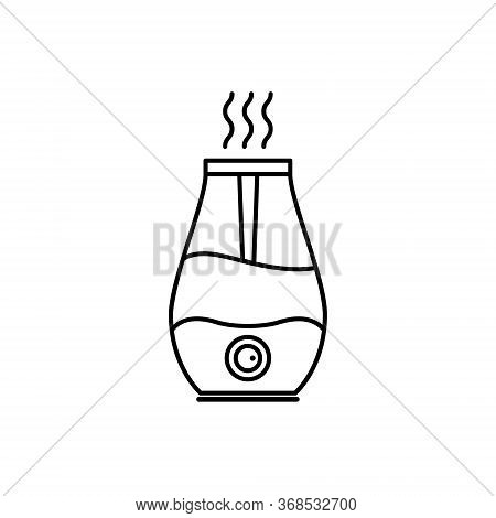 Humidifier Air Diffuser Line Icon. Purifier Microclimate Ultrasonic Home Flat Icon, Healthy Humidity