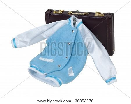 Letterman Jacket And Briefcase