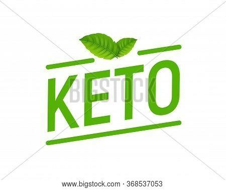 Keto Diet Lavel Icon. High Ketogenic Protein Diet Supplement