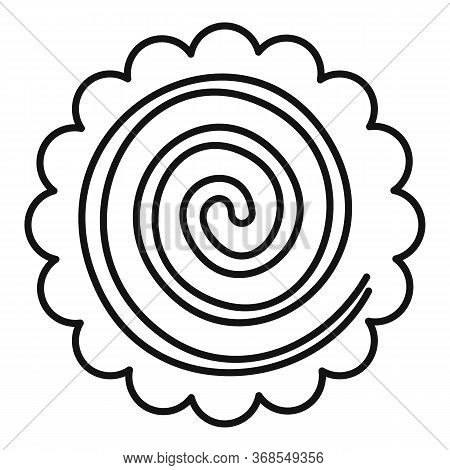 Sweet Spiral Biscuit Icon. Outline Sweet Spiral Biscuit Vector Icon For Web Design Isolated On White
