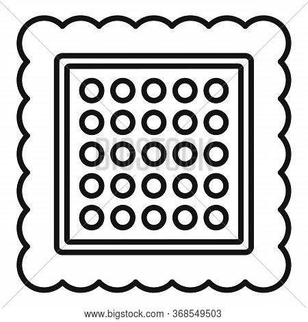 Square Cracker Icon. Outline Square Cracker Vector Icon For Web Design Isolated On White Background