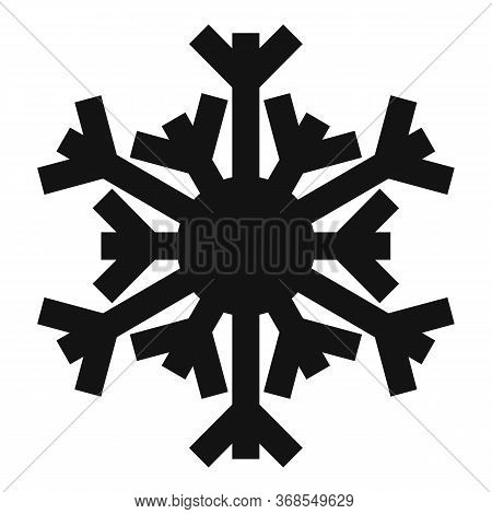 December Snowflake Icon. Simple Illustration Of December Snowflake Vector Icon For Web Design Isolat