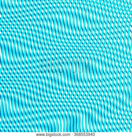 Mesh Abstract Background With Wavy Linear Colored Texture. Wavy Vector Composition Of Intersecting L