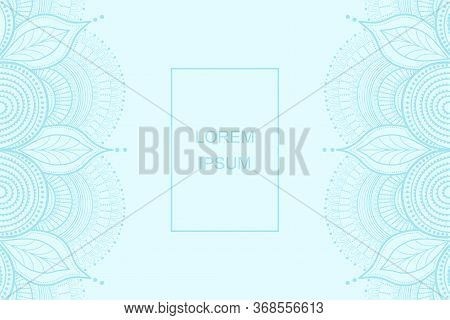 Vector Mandala Decor For Your Design With Abstract Ornament. Good For Cards, Posters, Invitations, F