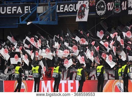 London, England - May 9, 2019: Eintrach Ultras Pictured Prior To The Second Leg Of The 2018/19 Uefa