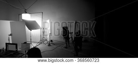 Shooting Studio For Photographer And Creative Art Director With Production Crew Team