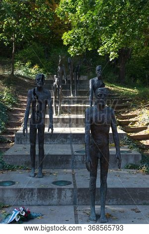 Prague, Czech Republic, October 13, 2019. Monument To The Victims Of Communism At The Foot Of Petrin
