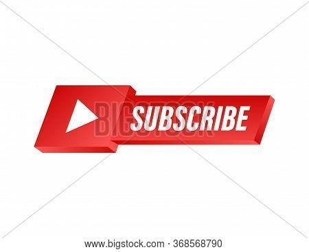 Subscribe Button Icon. Vector Stock Illustration. Business Concept Subscribe Pictogram.