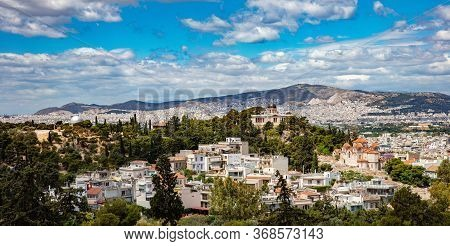 National Observatory Of Athens, View From Areopagus Hill In Greece