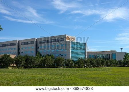 Orlando,fl/usa - 5/7/20:  The Exterior University Of Central Florida College Of Medicine Building In