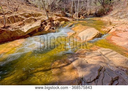 A Section Of West Fork Creek North Of Sedona Az Where The Creek Flows Rapidly.
