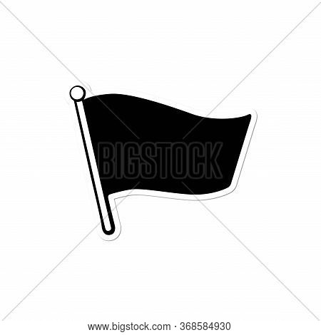 Black Flag, Isolated Flag Icon On A White Background. Flag Icon With A Trendy Design Style. Vector I