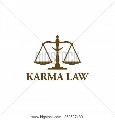 Karma Law Logo Vector And Business, Judge
