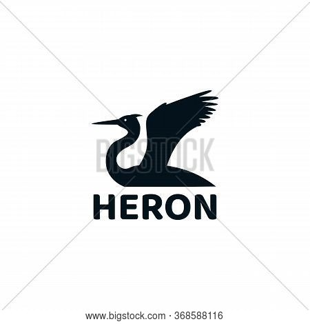 Heron Logo Vector And Animal, Wild, Wildlife, Wing