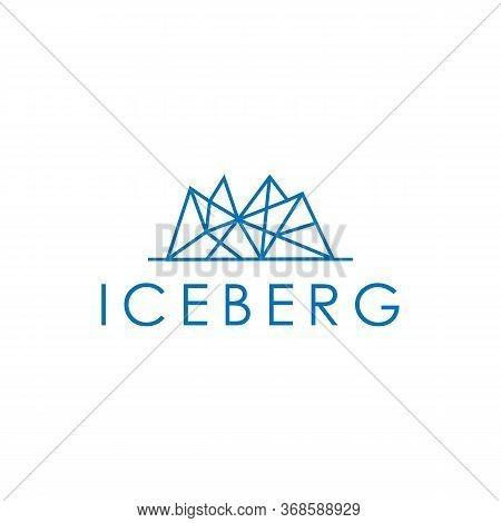 Ice Berg Logo Creative And Mountain, Snow, Symbol