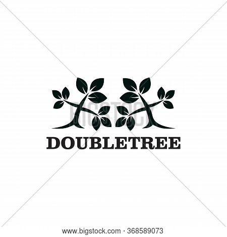 Double Tree Logo Plant And Nature, Vintage, Wanderlust