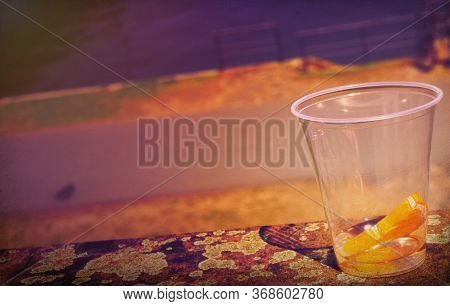 Summer Feeling With A Plastic Cup In Germany