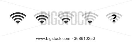 Wi-fi Icons Set. Wireless Internet Wifi Signal Level, Wifi Off, Disconnected Network. Communication