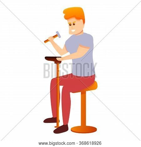 Shoe Repairman Icon. Cartoon Of Shoe Repairman Vector Icon For Web Design Isolated On White Backgrou