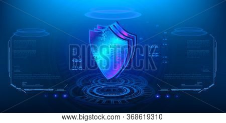 Innovative Concept Digital Data Protection, Privacy System And Security Of Your Personal Data In Sty
