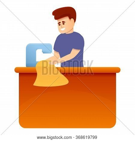 Seamstress Man Icon. Cartoon Of Seamstress Man Vector Icon For Web Design Isolated On White Backgrou