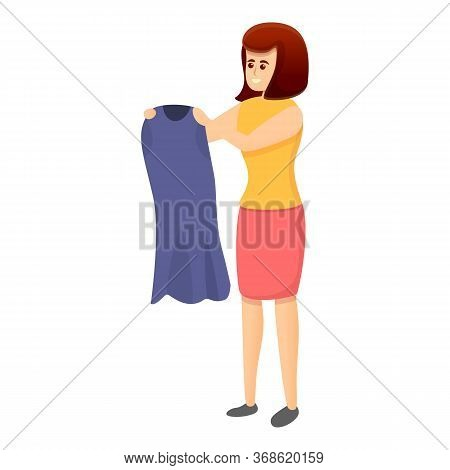 Woman Dressmaker Icon. Cartoon Of Woman Dressmaker Vector Icon For Web Design Isolated On White Back