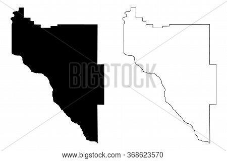Canyon County, Idaho (u.s. County, United States Of America, Usa, U.s., Us) Map Vector Illustration,
