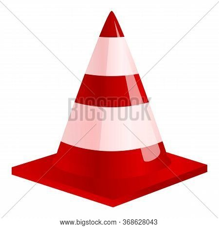 Road Cone Icon. Cartoon Of Road Cone Vector Icon For Web Design Isolated On White Background