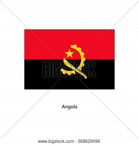 Vector Angola Flag, Angola Flag Illustration, Angola Flag Picture,