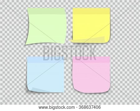 Set Of Multi-colored Paper Stickers For Organizing Time, Notes, Memos. The Sticker Is Hanging On A S