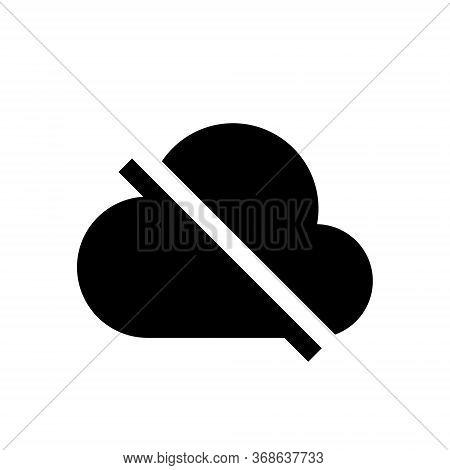 Offline Cloud Icon Vector. No Access Internet Symbol