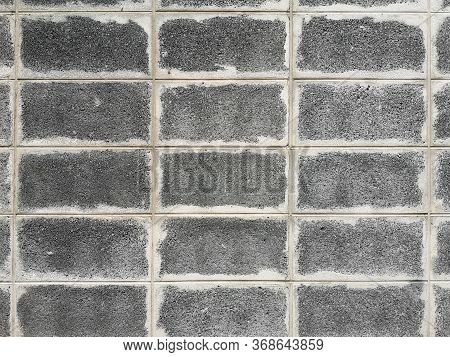 Grey Brick Block Wall Show Pattern Stack Block Rough Surface Texture Material Background Weld The Jo