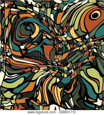 Colored Background Image Abstract Ornament Green And Brown