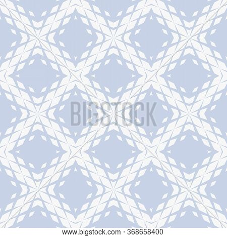 Vector Geometric Seamless Pattern With Fading Rhombuses, Diamonds, Grid, Repeat Tiles. Halftone Grad