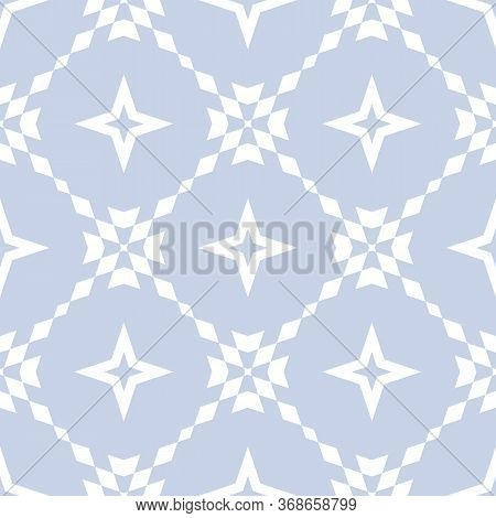 Floral Grid Seamless Pattern. Abstract Geometric Texture. Simple Vector Ornament With Floral Shapes,