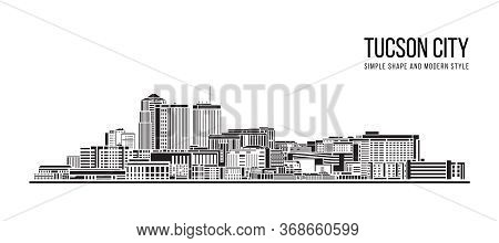 Cityscape Building Abstract Simple Shape And Modern Style Art Vector Design -  Tucson City