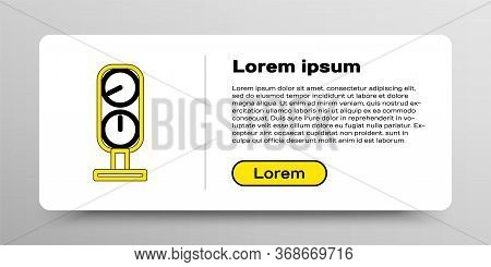 Line Gauge Scale Icon Isolated On White Background. Satisfaction, Temperature, Manometer, Risk, Rati
