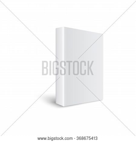 White Thick Hardcover Book - Realistic Mockup. 3d Vector Illustration