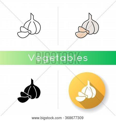 Garlic Icon. Fresh Vegetable For Seasoning. Veggie To Prepare Sauce. Nutrient Root For Food. Condime