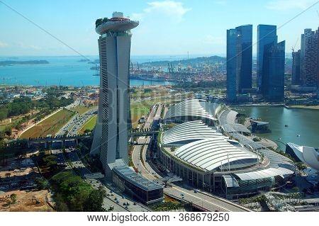 Marina Bay, Singapore - Apr 4 - Marina Bay Sands Facade On April 4, 2012 In Singapore.