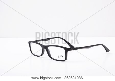Close Up Of Black Ray Ban Spectacles
