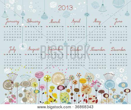 Decorative Calendar For 2013