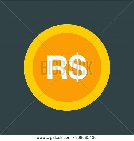 Real Brazil Sign Icon. Currency Sign - Money Symbol.