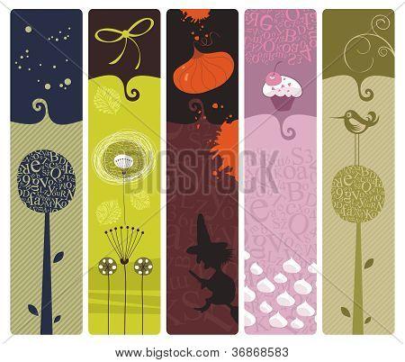 Various Bookmarks Set