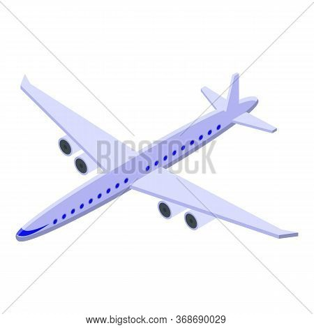 Excursion Airplane Icon. Isometric Of Excursion Airplane Vector Icon For Web Design Isolated On Whit
