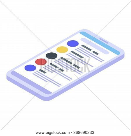 Excursion Smartphone Guide Icon. Isometric Of Excursion Smartphone Guide Vector Icon For Web Design