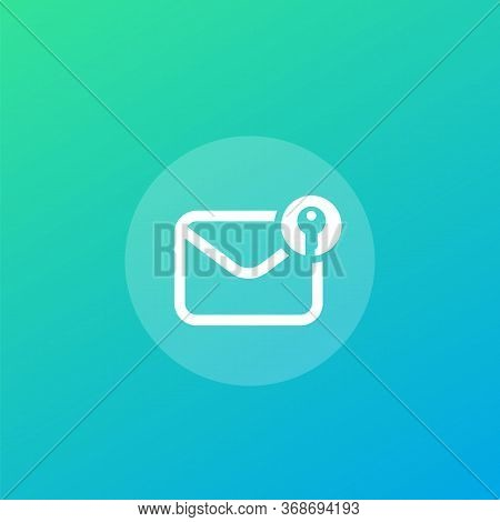 Encrypted Message Or Email, Vector Icon, Eps 10 File, Easy To Edit