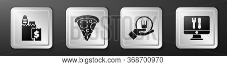 Set Online Ordering And Delivery, Slice Of Pizza, Online Ordering And Delivery And Online Ordering A