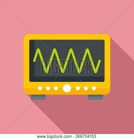 Radiation Wave Device Icon. Flat Illustration Of Radiation Wave Device Vector Icon For Web Design
