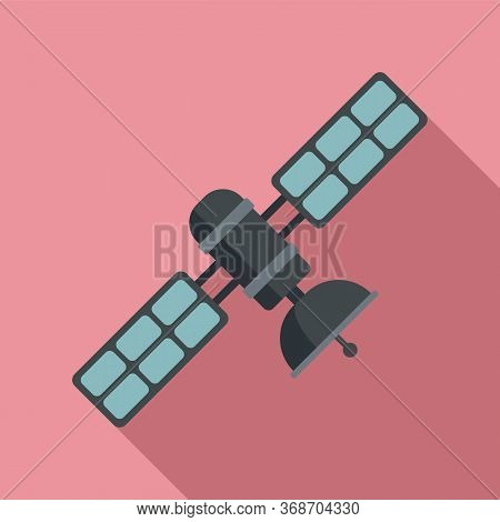 Space Satellite Icon. Flat Illustration Of Space Satellite Vector Icon For Web Design